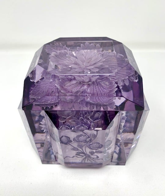 Image of Petite Lucite Box- New color-Gray/Violet!