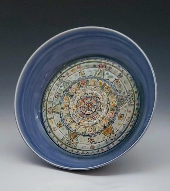 Image of Large Blue Mandala Bowl