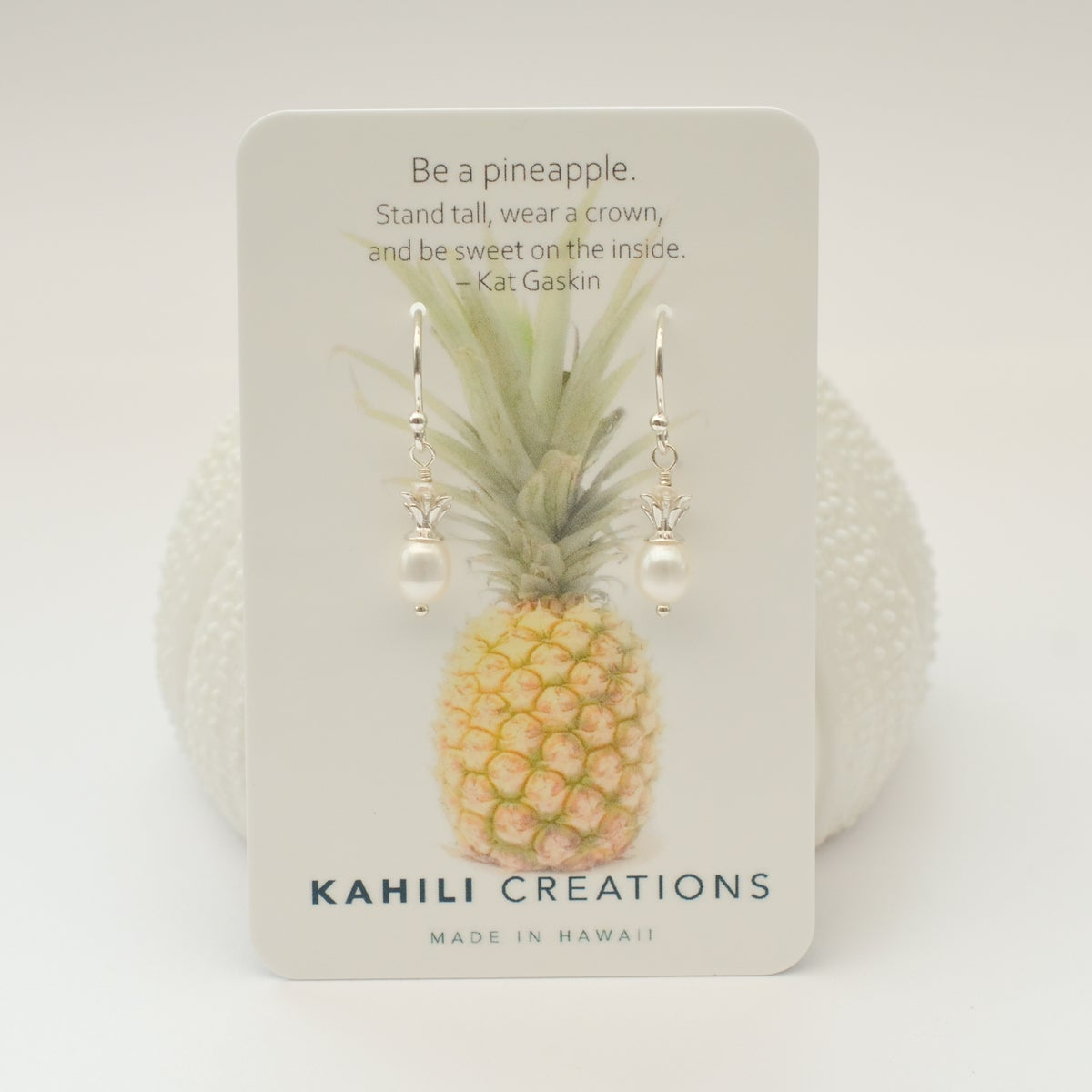 Image of Tiny Pineapple Earrings Sterling Silver