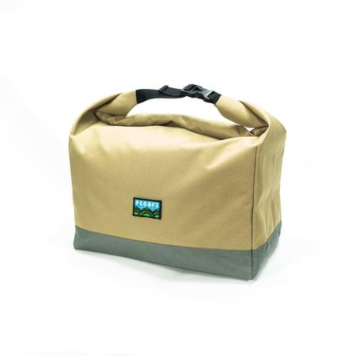Image of Pasa Basket Tote Bag - Tan / Nimbus Gray