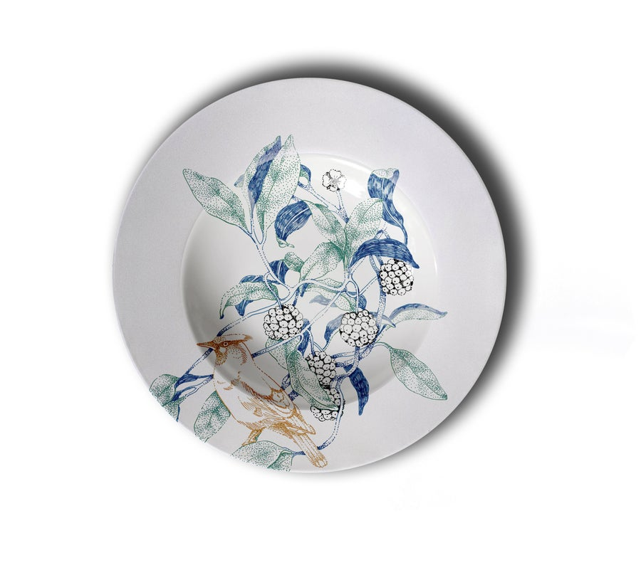Image of Birds Song Chop Plate B