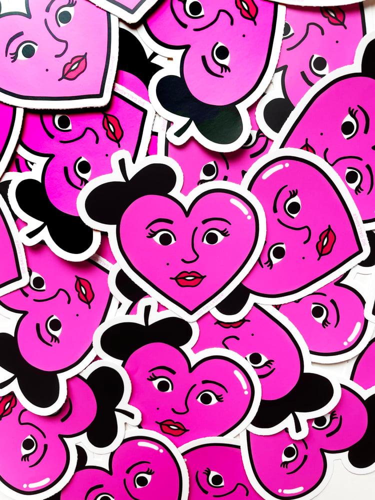 Image of Fancy heart sticker