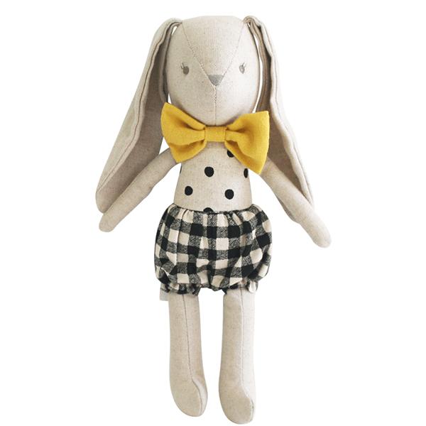Image of Baby Boy Bunny 26cm Black Check