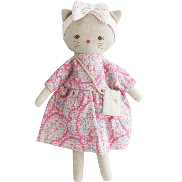Image of Mini Lilly Kitty 26cm Pink Floral