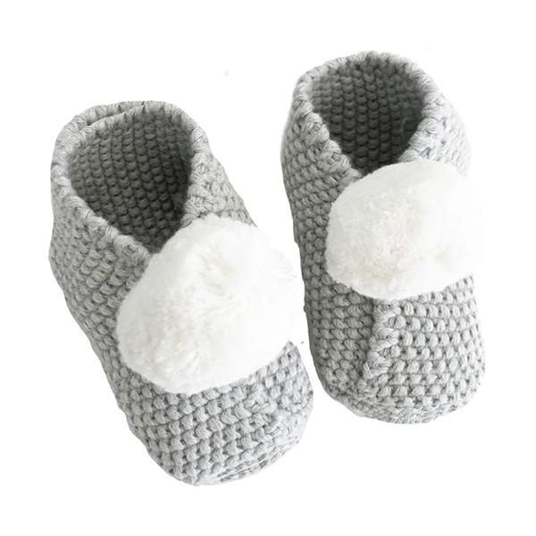 Image of Baby Pom Pom Slippers  (3-6mths)