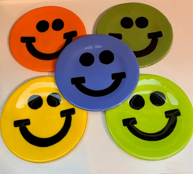 Image of Glass Smiley Plates (New Colors!)