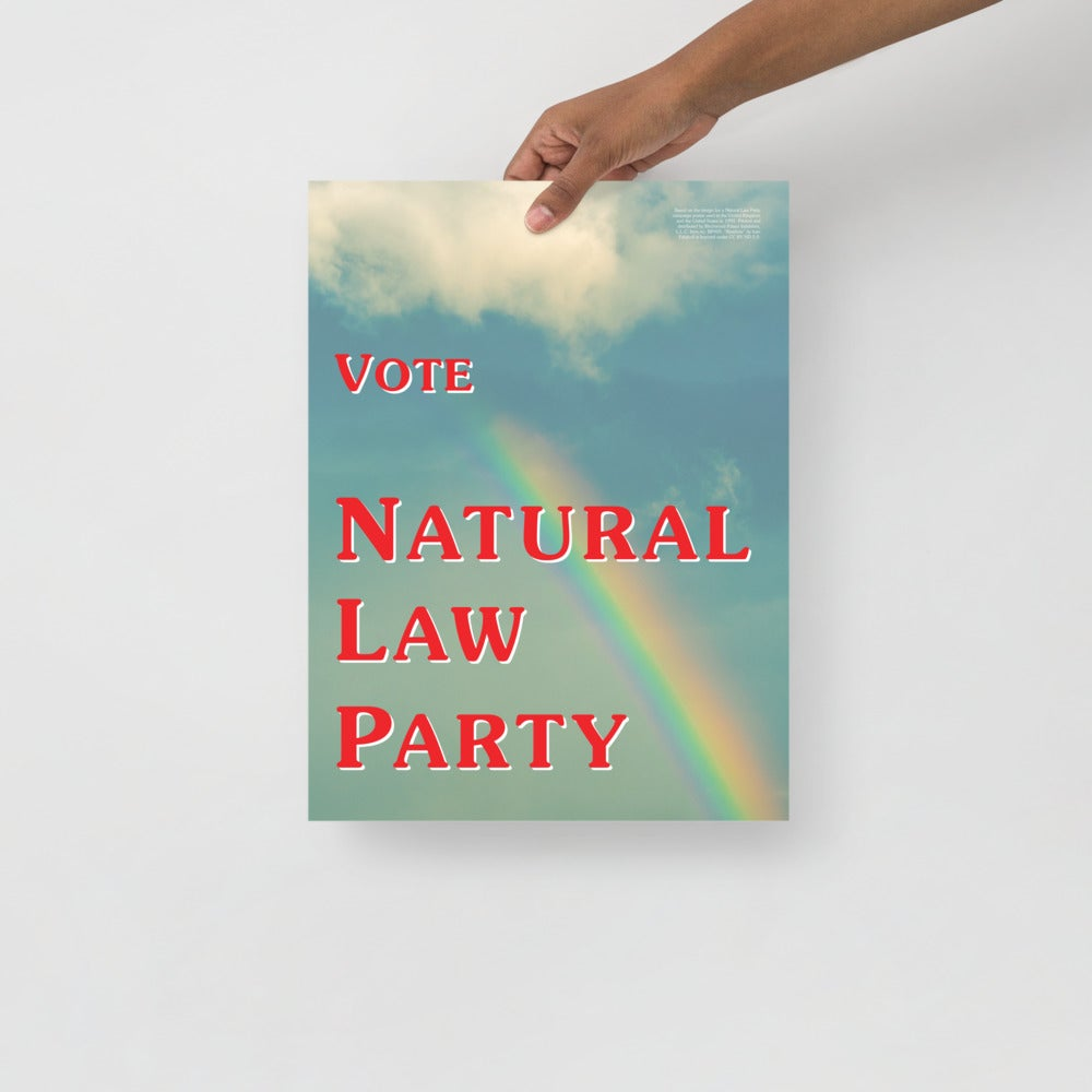 Image of Natural Law Party '92 Poster