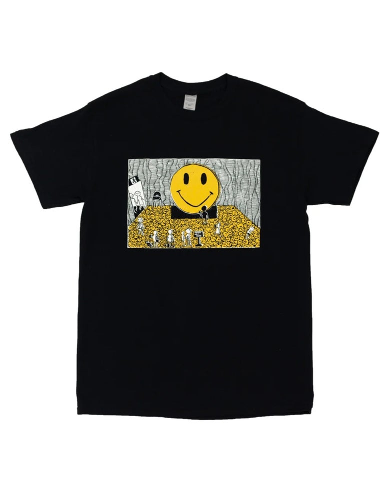 Image of Poppy Williams 'DON'T TOUCH THE ART' Black T-shirt