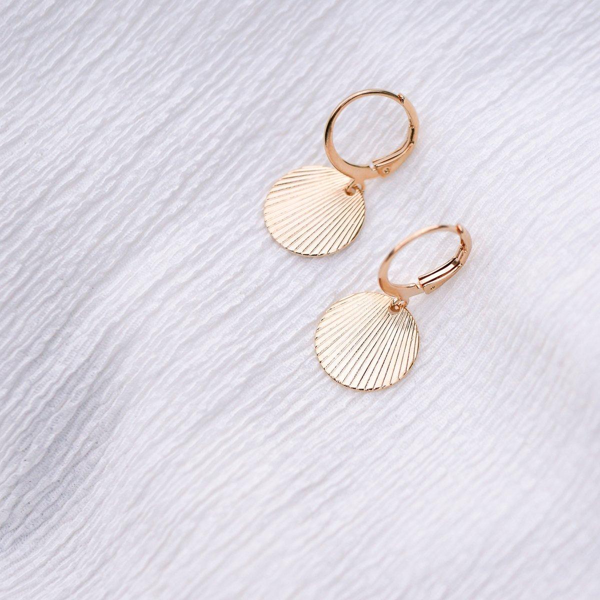 Image of Boucles d'Oreilles CALISTA Taille XS Dorées