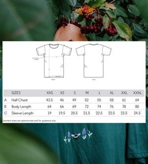 Image of Mushroom, Acorn & Oak Embroidered Organic T-Shirt ~ Black