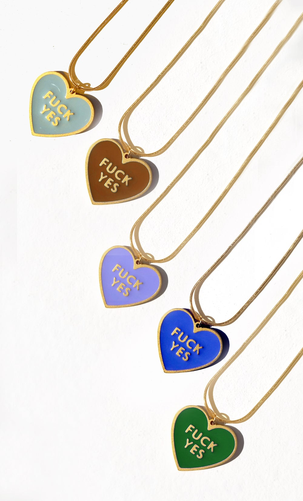 Fuck Yes Necklace - Brown • reversible