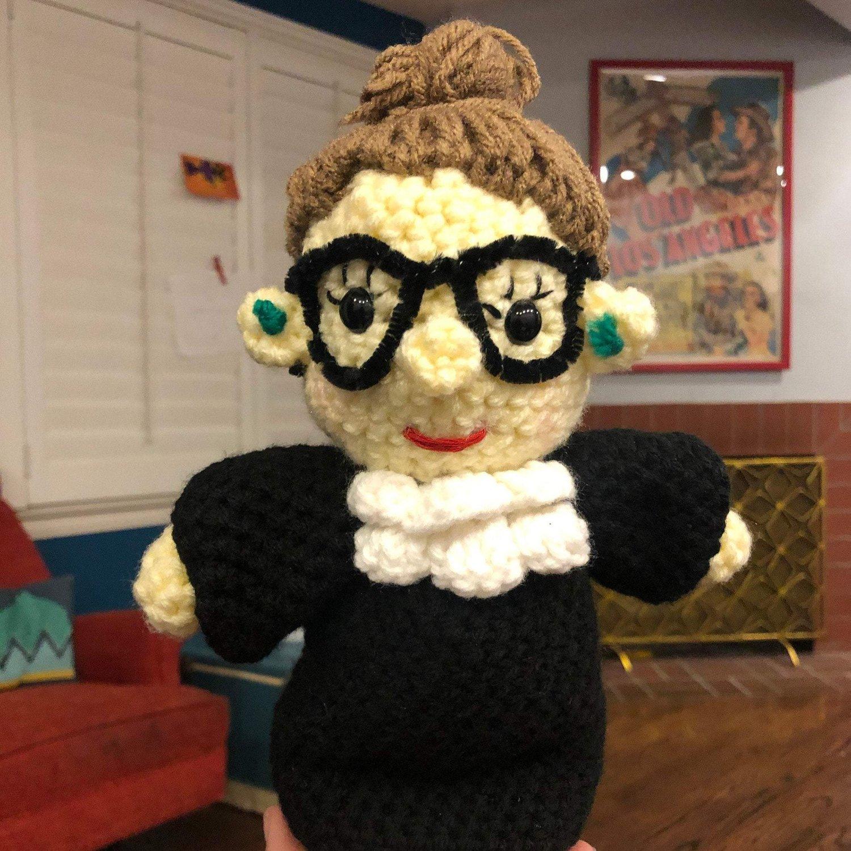 Ruth Bader Ginsburg Crochet Doll