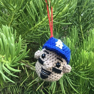 Mookie Betts Dodgers Christmas Ornament