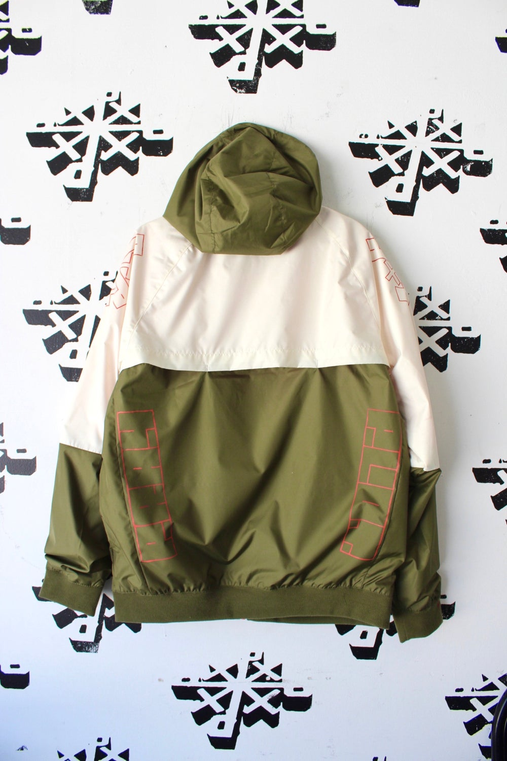 mean green jacket in tan and army green
