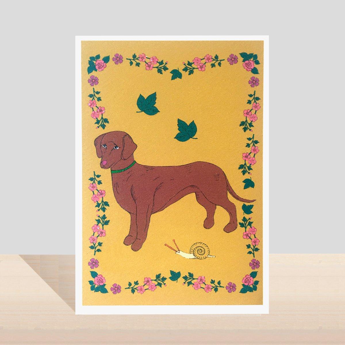 Sausage Dog Flora and Fauna Card