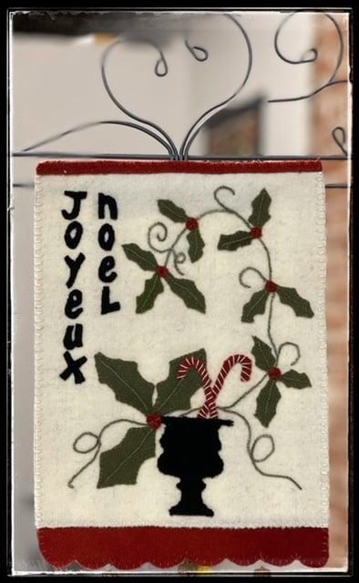 Joyeux Noel Banner Kit and Pattern