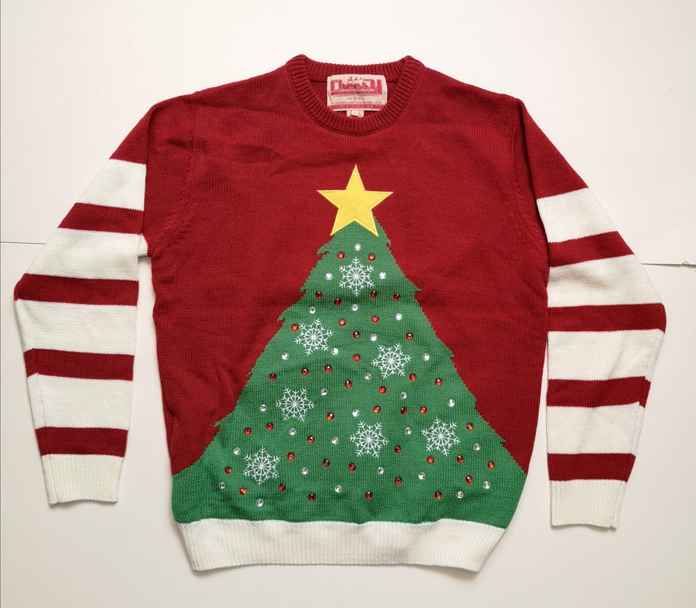 Image of Xmas Tree Jumper (Large) - Reconditioned/Seconds