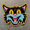 Black Cat- Hand painted wood cutout