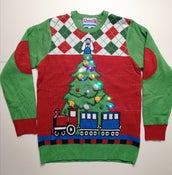 Image of Tree and Train Christmas Jumper (Large) - Rare