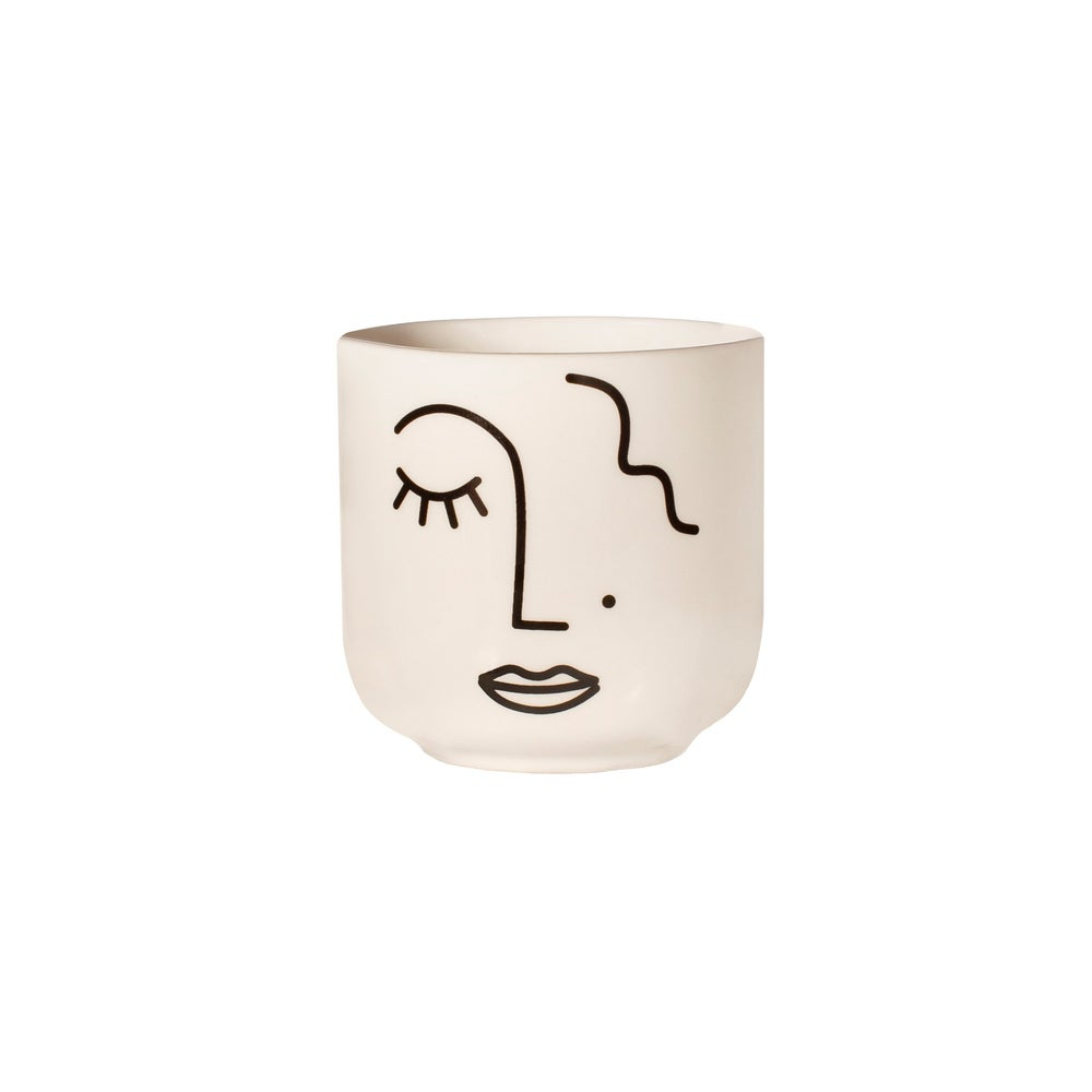 Image of MINI POT ABSTRACT VISAGE, SASS & BELLE