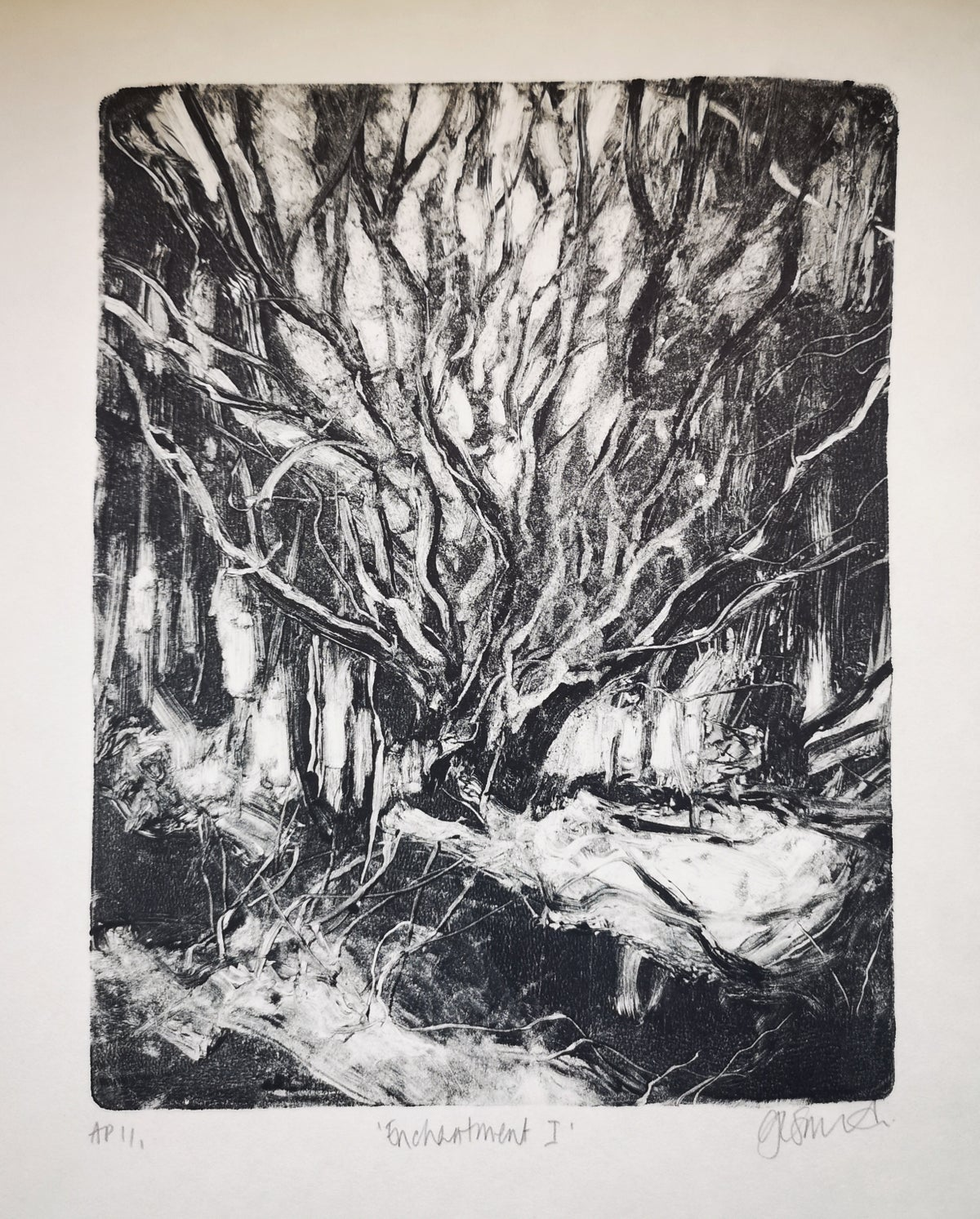 Image of Original Monotype Print - Enchantment I
