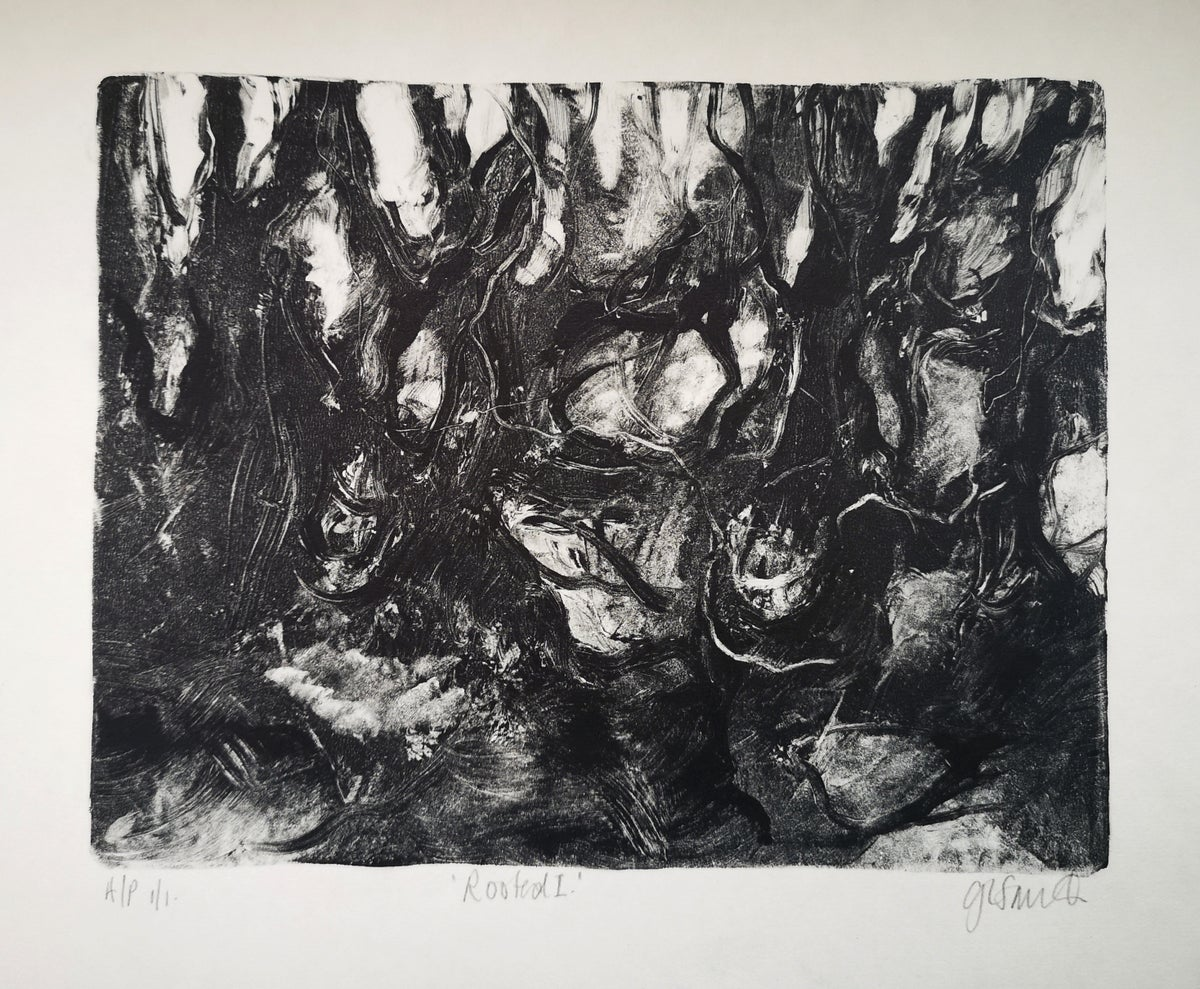 Image of Original Monotype Print - Rooted I