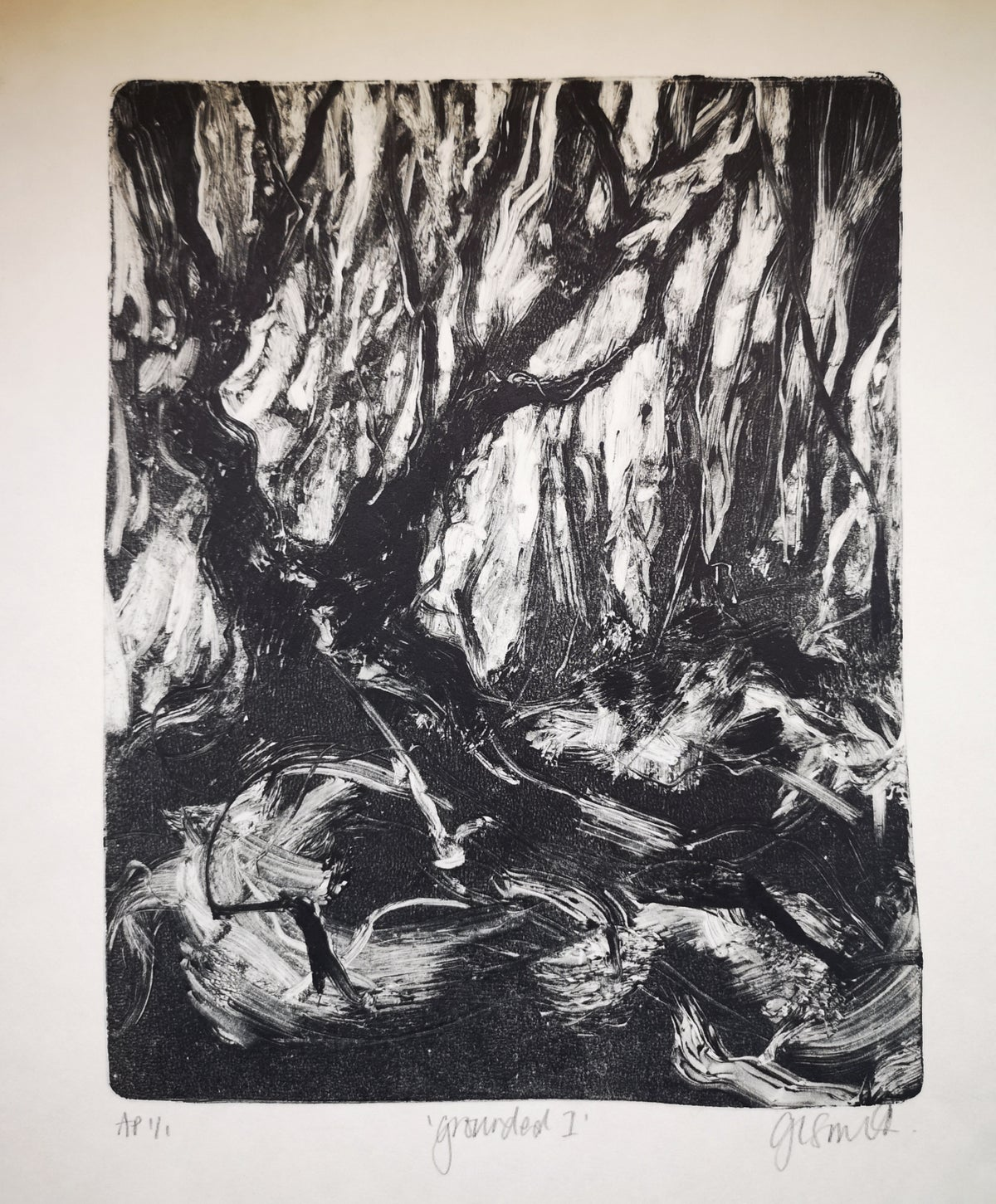 Image of Original Monotype Print - Grounded I