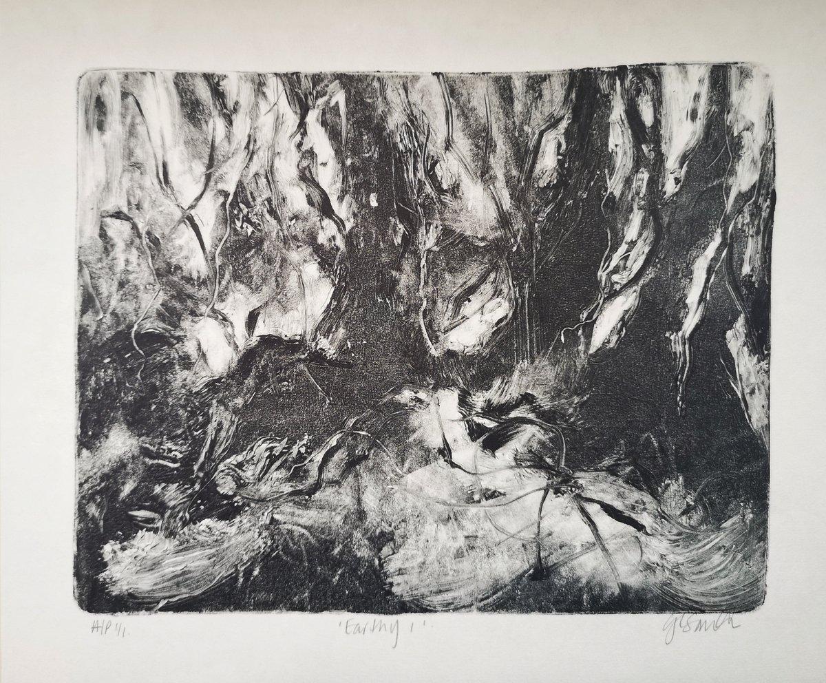 Image of Original Monotype Print - Earthy I