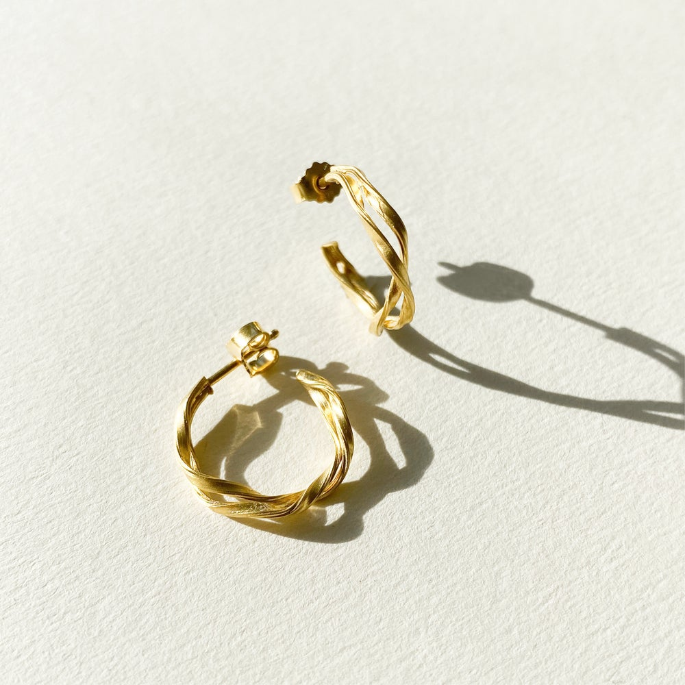 Image of Selena Hoops / 24K GOLD-COATED SILVER