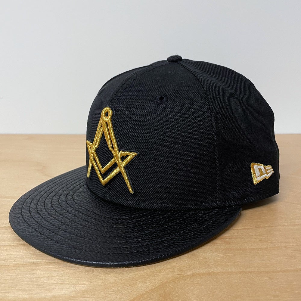 Image of Black Wool with Gold Fitted 59Fifty 10th Anniversary