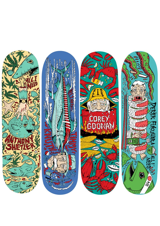 Image of SEAFOOD SERIES SKATEBOARDS