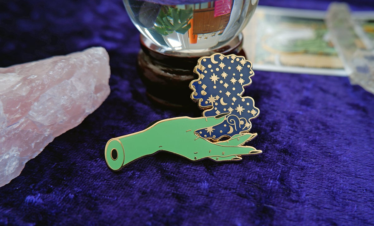 Image of Witches Magic Hand Enamel Pin
