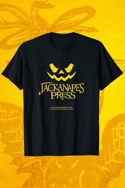 Image of Jackanapes Press logo T-shirt