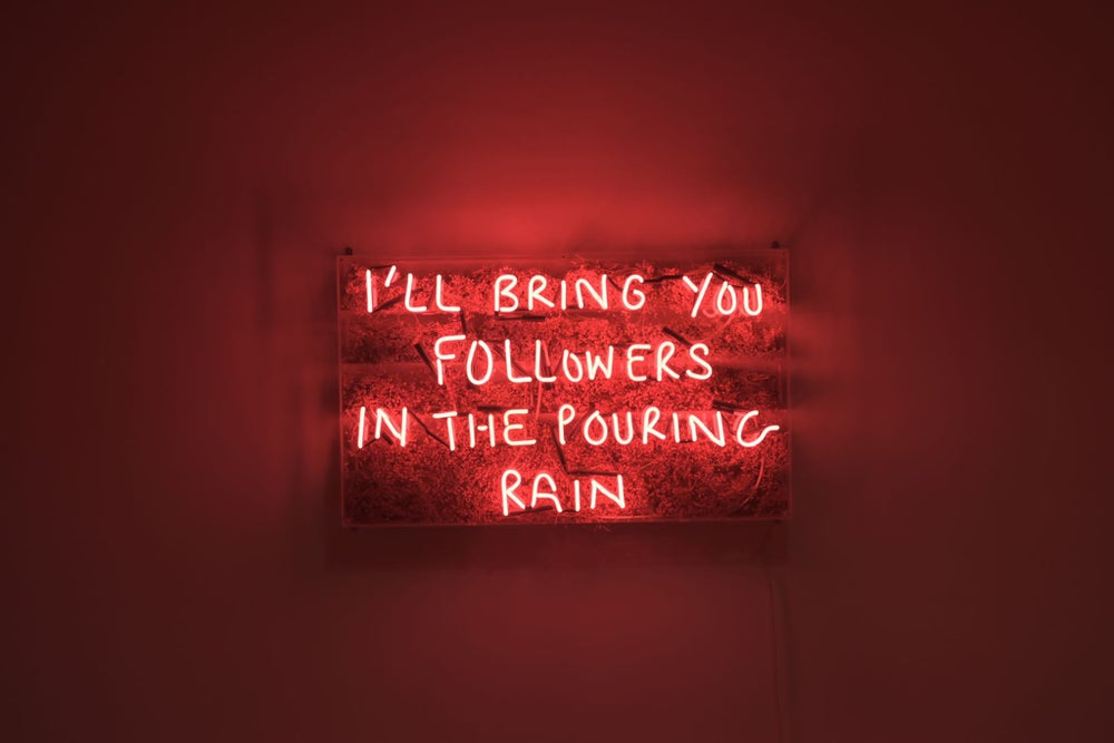 Image of I'll bring you flowers/followers in the pouring rain