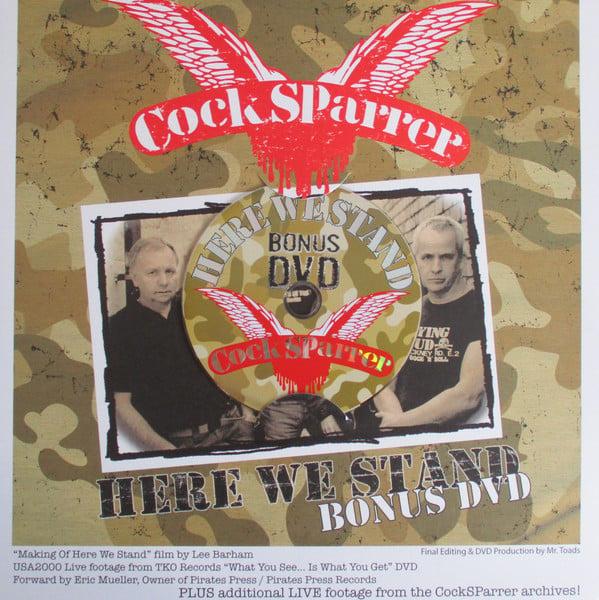 "COCK SPARRER - ""Here We Stand"" 180 LP (Oxblood Vinyl) + CD & DVD set"