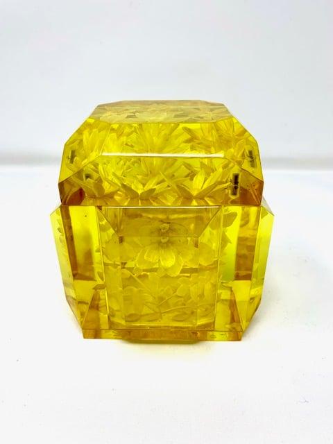 Image of Petite Lucite Box- Forsythia