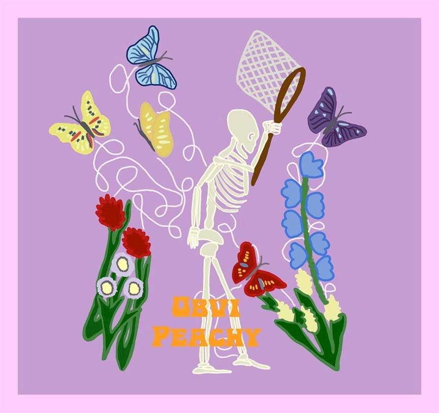 Image of Skeleton Chasing Butterflies Hoodie