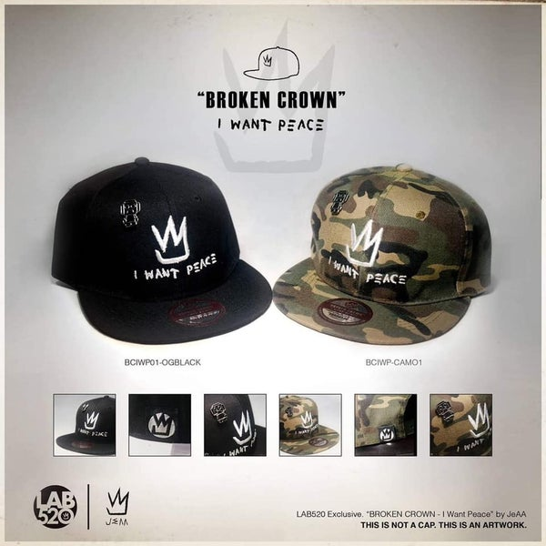"""Image of LAB520 Exclusive. """"BROKEN CROWN - I Want Peace"""" by JeAA"""