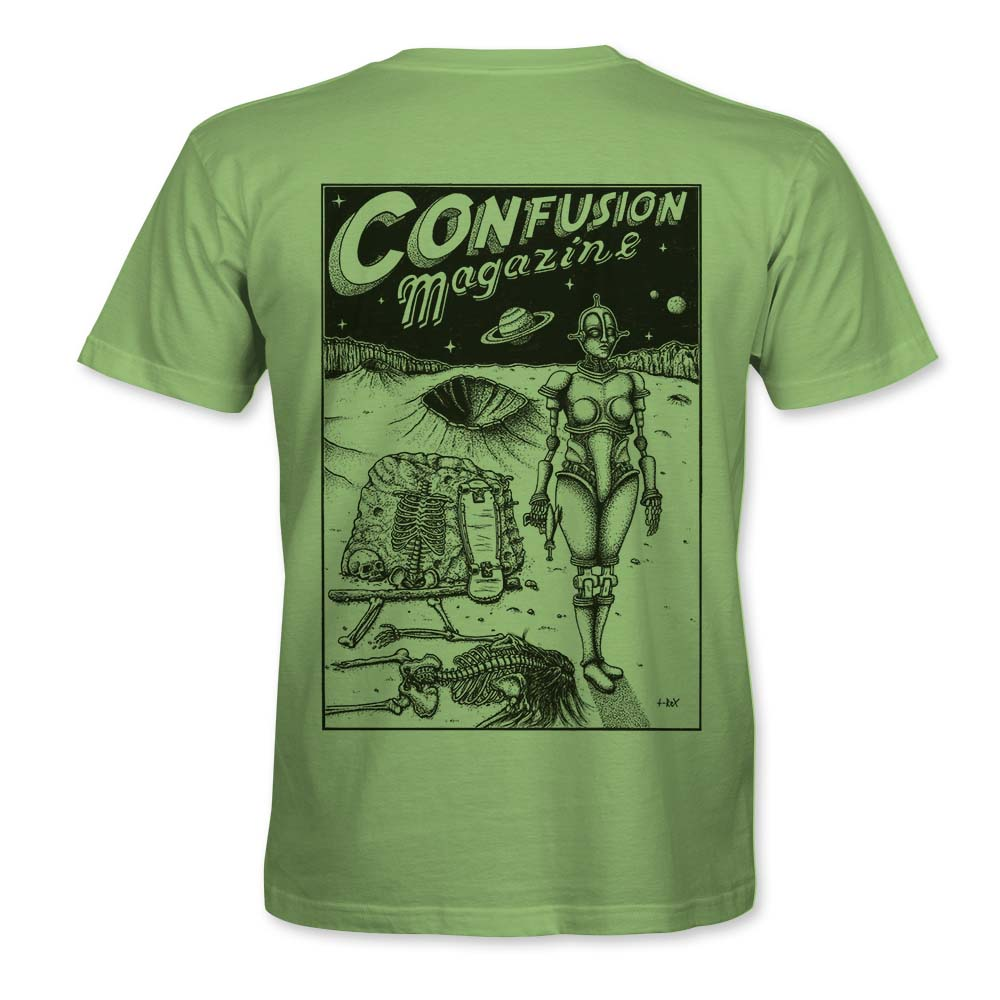 """Image of Confusion - """"Dystopia"""" t-shirt  [Pistachio]"""