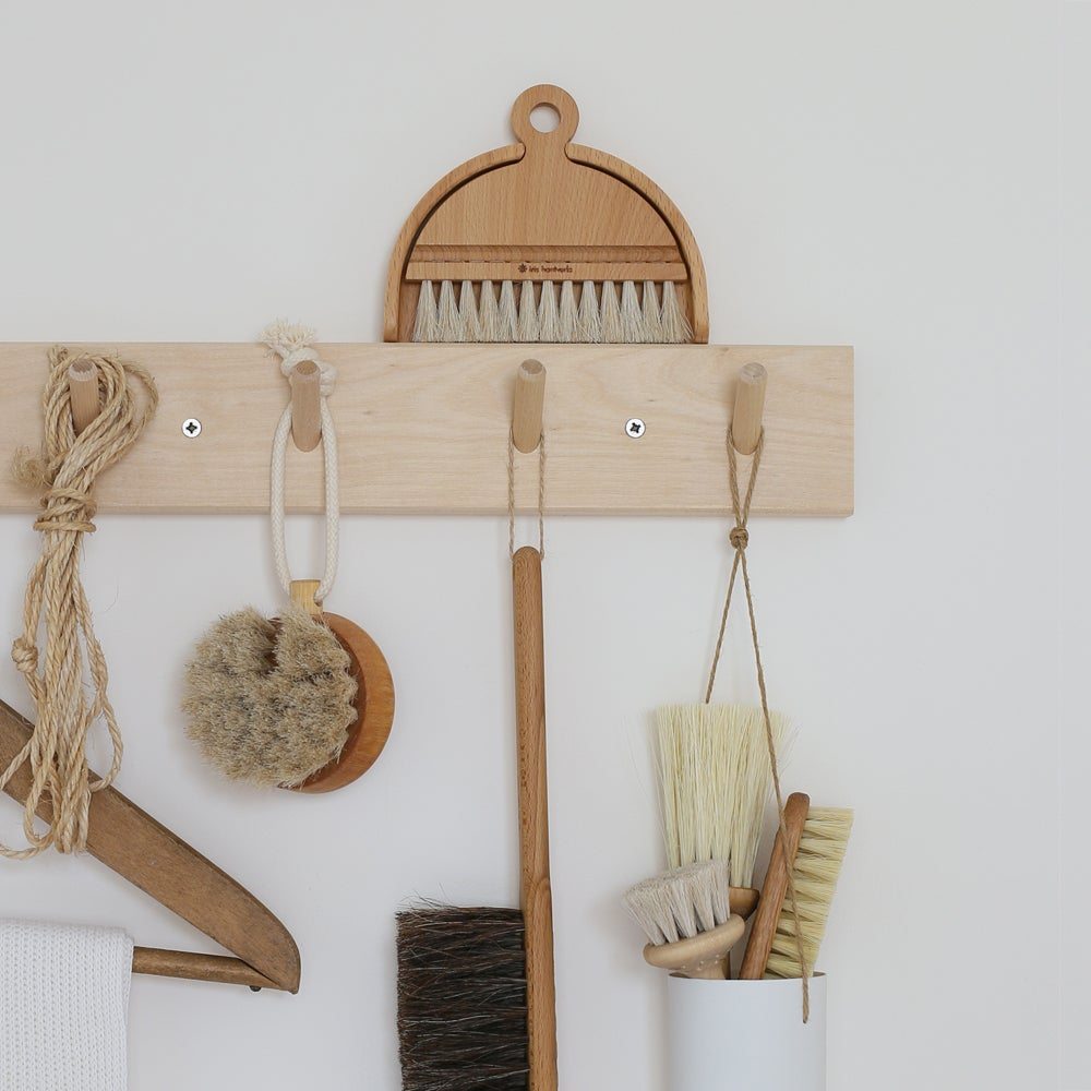 Image of Patère en bois 4 crochets