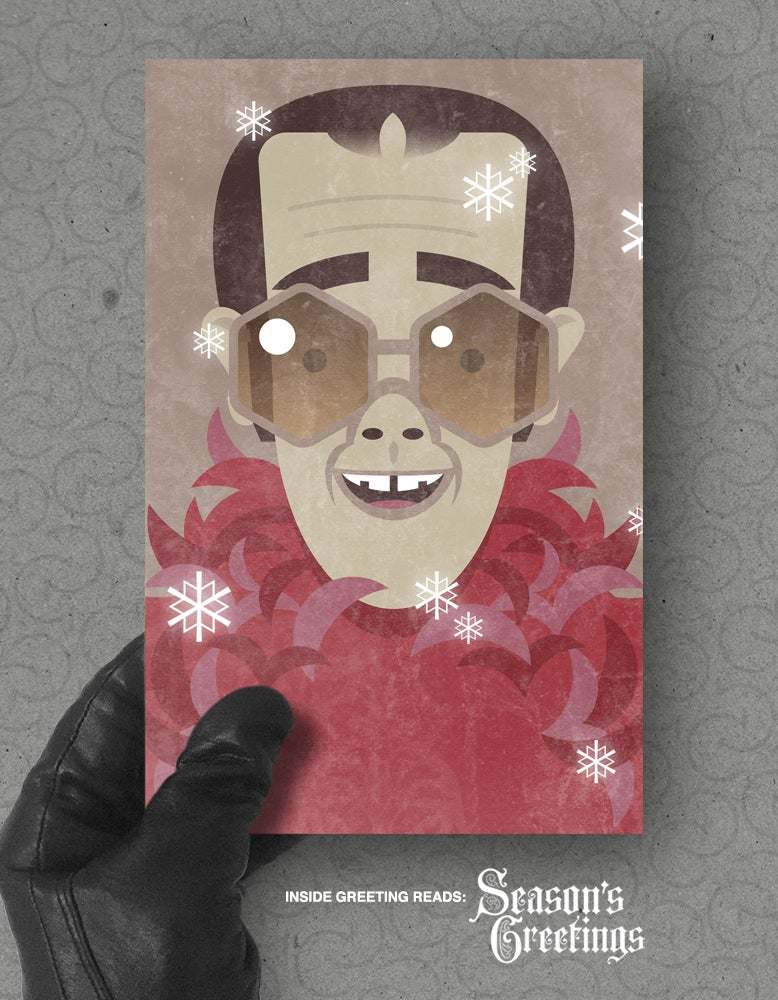 Image of Xmas card pack: 'Step In...'
