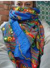 PAROS scarf GREEK BLUE
