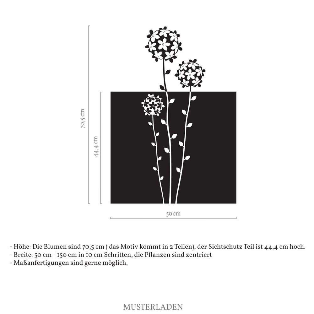 Image of Fensterfolie Sichtschutz floral, selbstklebende Milchglasfolie