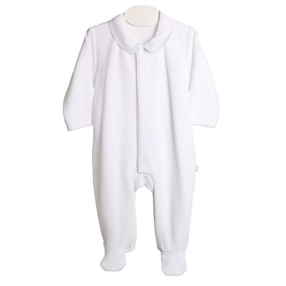 Image of Baby Gi White Babygrow with gold wings