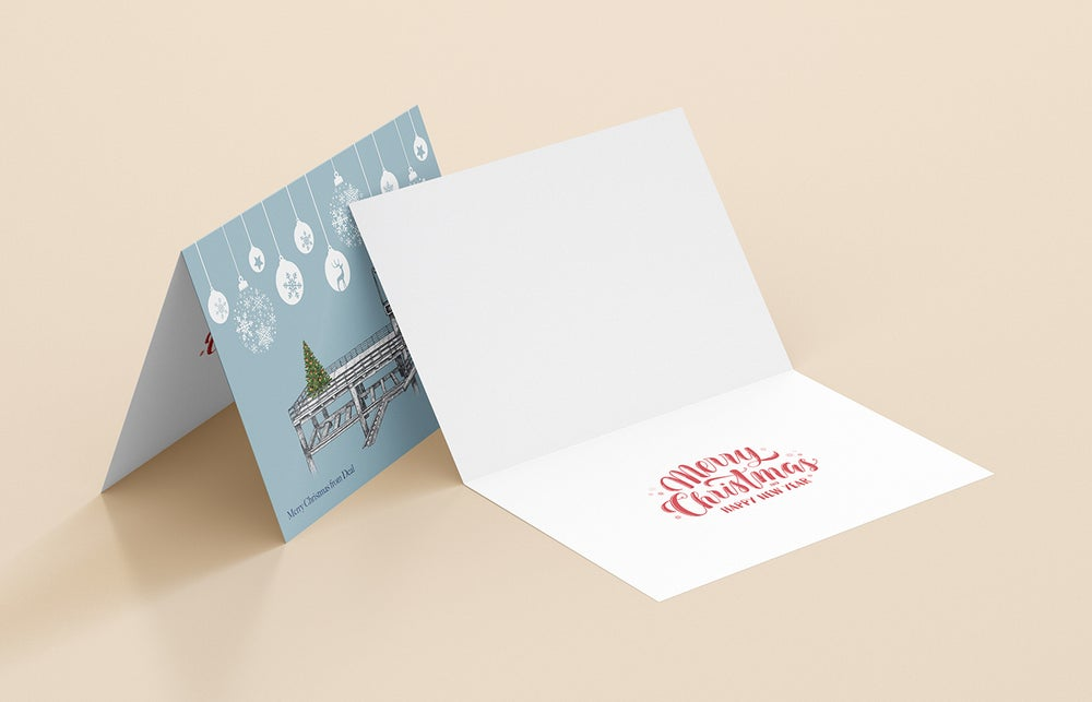 Image of Pack of Six 2021 Deal Pier Christmas Cards