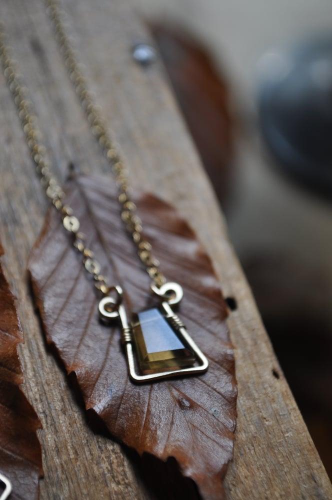 Image of Smoky Quartz in Gold Fill