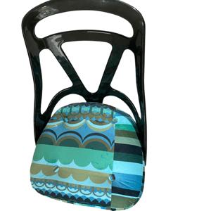 Image of Disc'O'Green Bespoke Velvet Chromcraft  Atomic Swivel chair