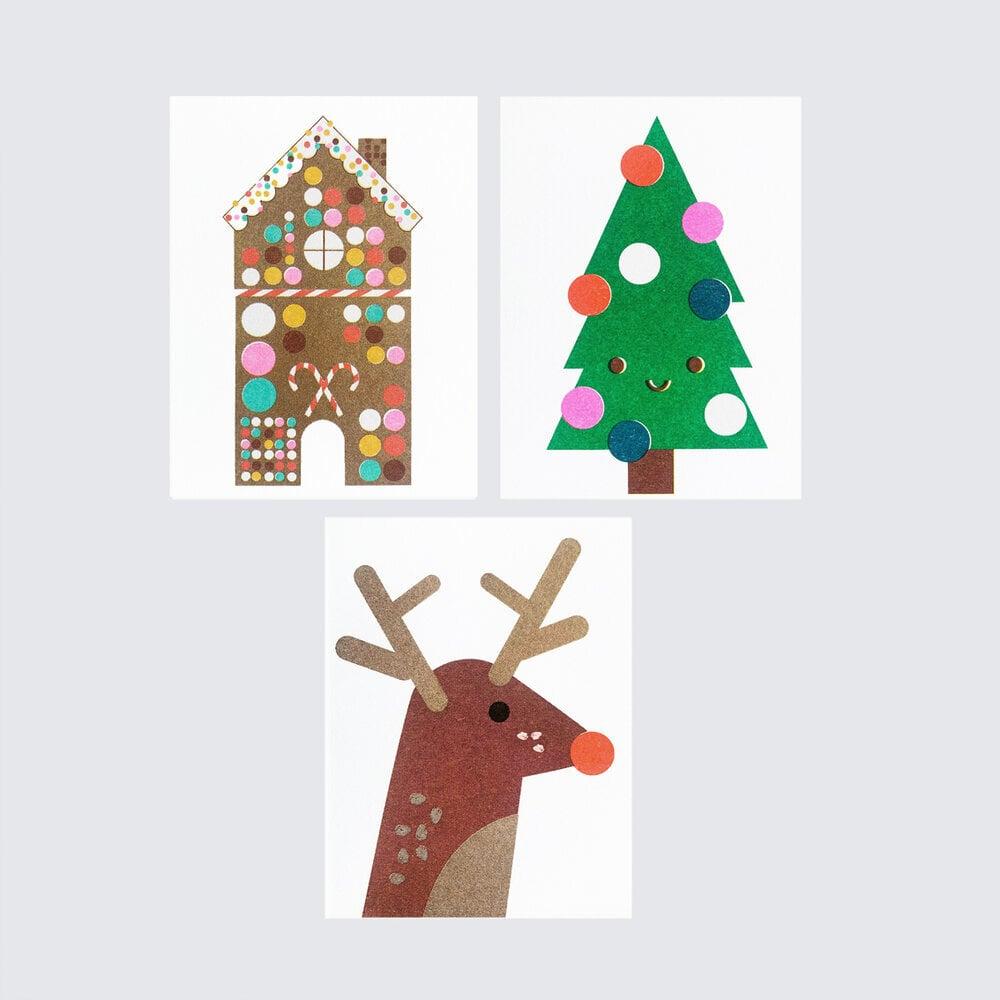 Image of Set of Six Christmas Cards B