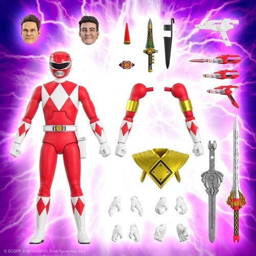 Image of Power Rangers Ultimates Mighty Morphin Red Ranger 7-Inch Action Figure