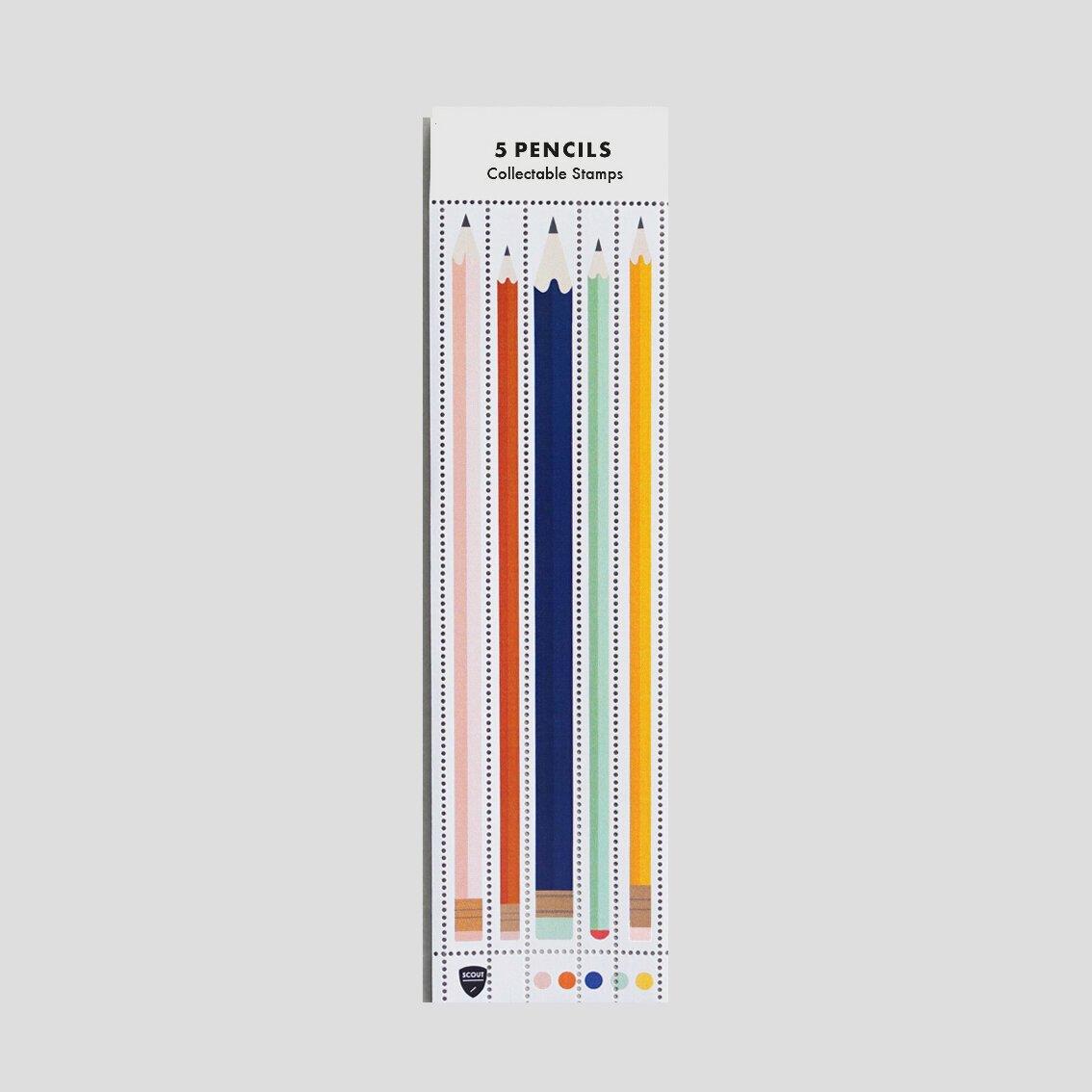 Image of Long Pencils Stamp Set